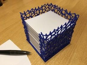 Notepad Cube voronoi Style