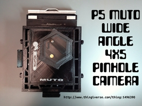 P5 MUTO Wide Angle 4X5 Pinhole Camera