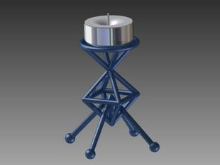 Lunar Lander Tealight Holder