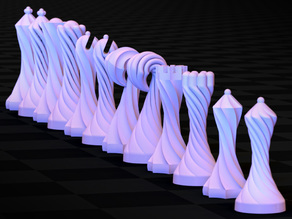 Dueling Spirals Chess Set
