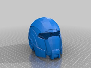 Mass Effect N7 Helmet Remeshed Printable