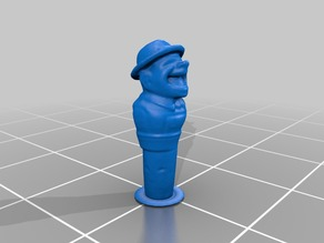 3d_scan of an Anri of a laughing man with a derby
