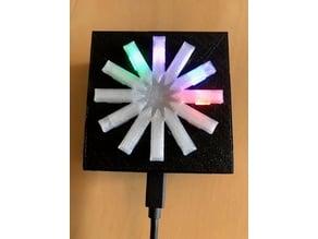 ESP12-E Wireless Clock - WS2812b housing