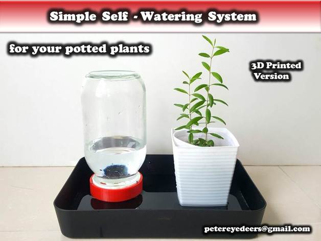 Thingiverse & Simple Self-watering System for potted plants by ...