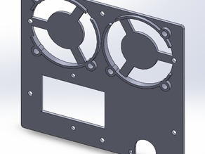 Replacement Backplate for Wanhao Duplicator i3 with dual 50mm fans