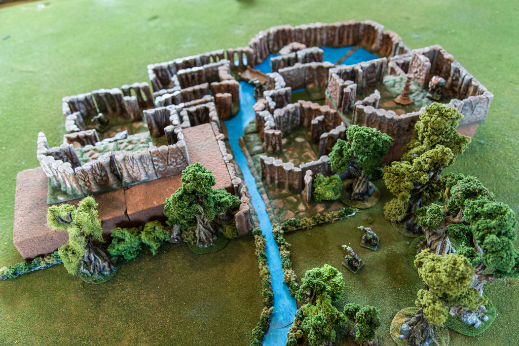 Caverns Dungeon Tiles - Corner Section by Printablescenery