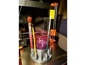 Spill Resistant Paint Brush Wash Cup Holder for Kids