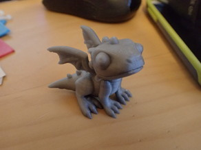Cute Dragon - more easy printing