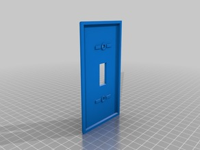 Trimmed Light Switch Plate