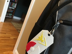 Pokemon Go Backpack Tag (Yellow Team)