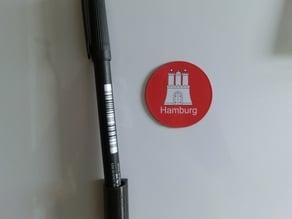 Parametric magnetic fridge pen holder