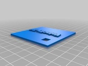 Velocity 3D Keychain