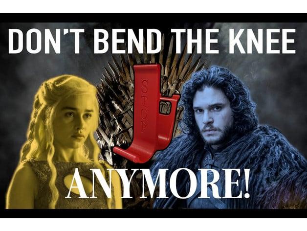 No knee bending required