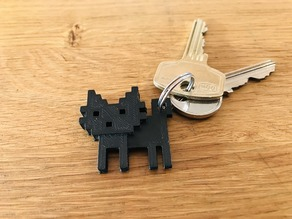 8 Bit Cat keychain