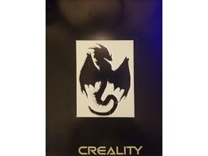 Dragon Stencil and Silhouette