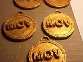 MOV Medal Key Chain