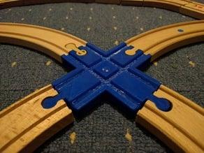 Brio compatible crossover track (tracks at right angles)