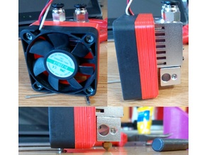 50 to 30mm fan adapter for Chimera/Cyclops dual color extruder