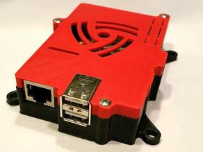 Raspberry Pi (Model B) case with 75mm VESA mount