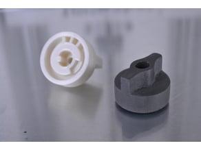 Fryer valve knob