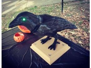 Halloween Crow w/LED eyes and base
