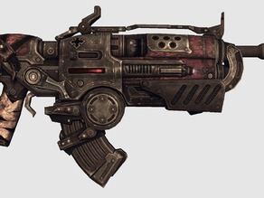"Gears of War - "" Hammerburst II "" Assault Rifle """