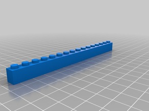 lego brick 1x16
