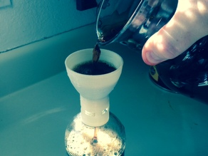 Cold brew coffee funnel
