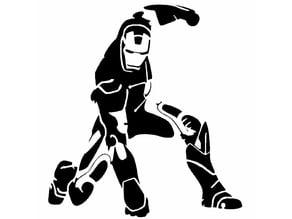 Iron man stencil 2