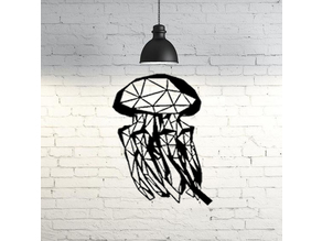 Jellyfish wall sculpture 2D