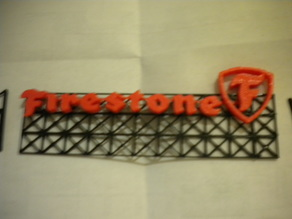 Firestone Logo Sign and Rack
