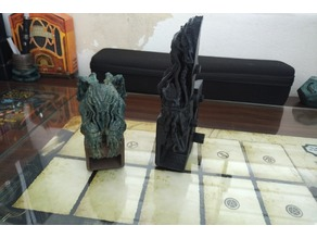 """Cthulhu Dice Tower - 7"""" in parts"""