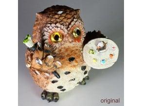 Owl Artist V1 3D Scan