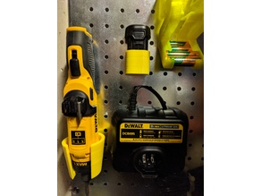 DeWalt 8vMAX battery pegboard holder
