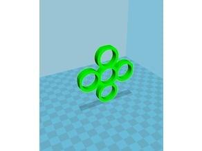 5 Bearing 5 Circle Fidget Spinner