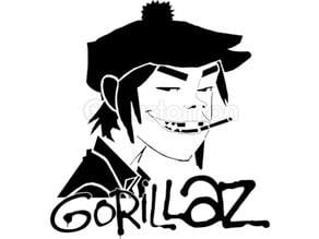 Gorillaz Stencil