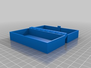 My Customised Hinged Box With Latch, Somewhat Parametric and Printable In One Piece 100x50x16
