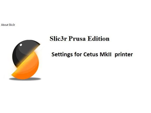 Prusa Slic3r config for TierTime Cetus mkII by mvadu