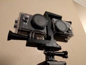 3D Camera Rig for Action Cameras / EK7000 / GoPro