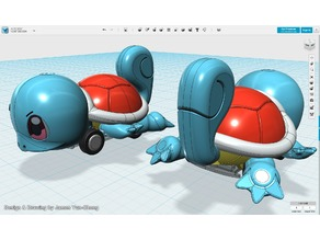 Pokémon - Squirtle pull-back car toy