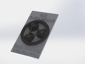 Planetary Calling Card, business card, working gears