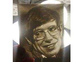 Stephen Hawking - Lithophane
