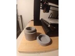 Threaded screw cap container