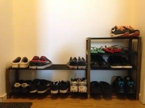 Stackable shoe rack