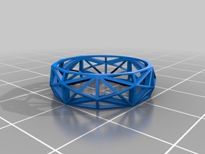 Lowpoly Ring Wireframe