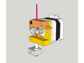 MK8 direct drive extruder 7mm pulley adapter