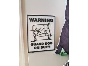 Greyhound Guard Dog Sign