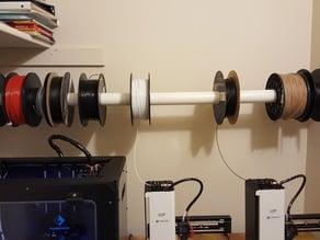 """1-1/2"""" pvc pipe wall spool holder"""