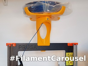 Filament Carousel Tower for Prusa Sheet Metal Frames