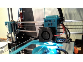 Fan duct for Anet A8
